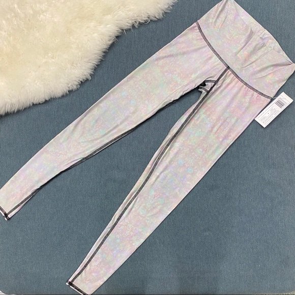 "teeki Pants - NWT Teeki ""White Snake Opal"" Hot Pant /Leggings S"